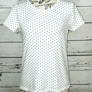 Energie Tops - ENERGIE White Polka Dot Classic Top
